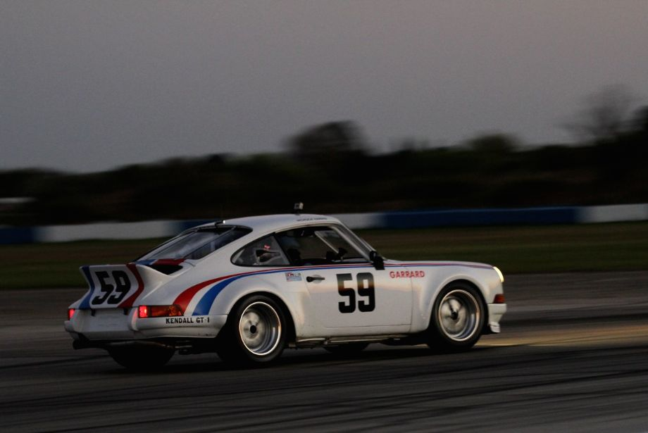 Charles Harris and his 1973 Porsche 911 RSR bring back memories of Peter Gregg racing at Sebring some 4 decades ago.