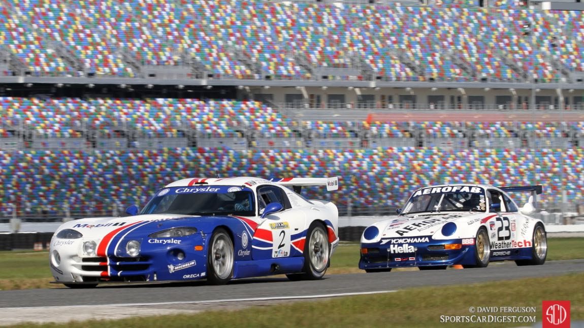 Olivier Bouquet, 99 Dodge Viper GTS-R leads the Cooper and David MacNeil 97 Porsche 993 RSR.