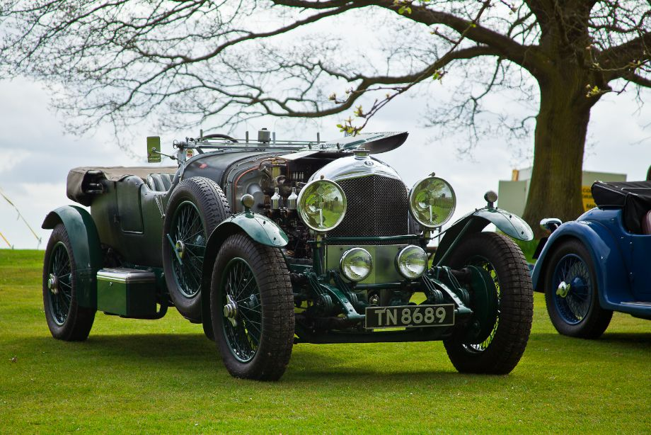 Big Bentley sporting Mille Miglia stickers