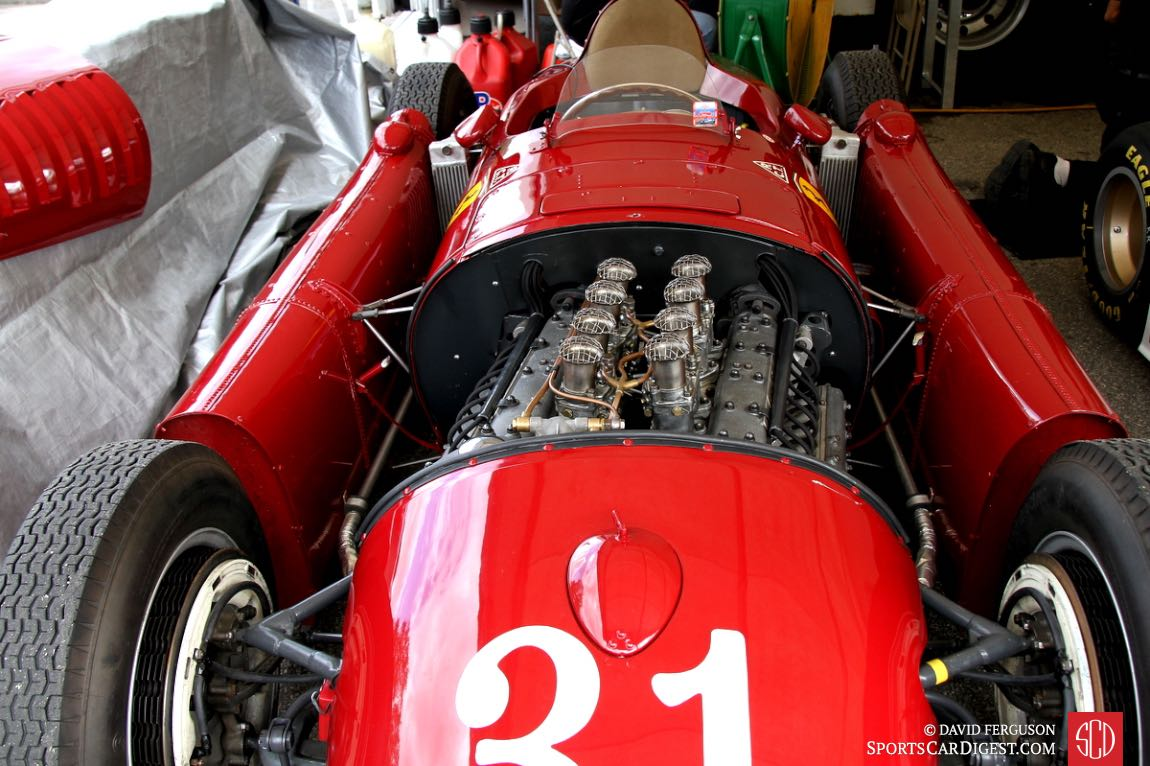 Note the engine alignment in the 1954 Lancia D50.