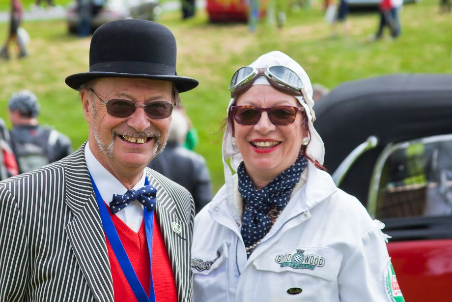 Having fun at the Concours