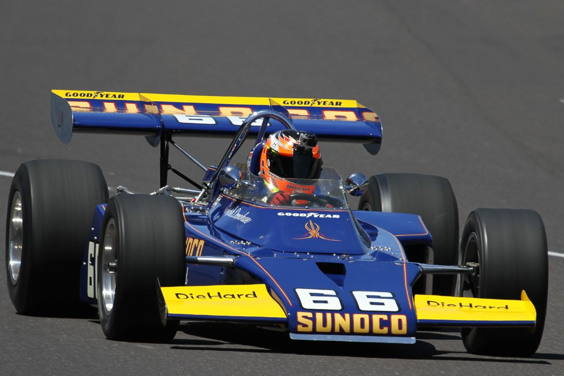 1972 McLaren that Mark Donohue won the 500 with. It was Roger Penske's first win as an owner.