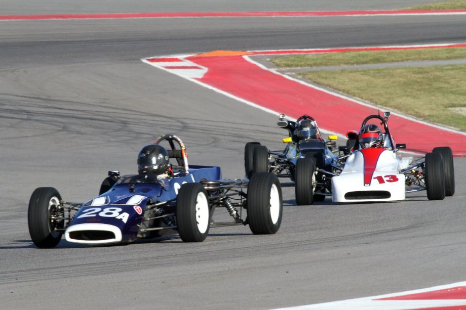 William Johnson in the blue 1972 Royale RP3a leads Norm Cowdrey in his 1972 Crosley 172FF.