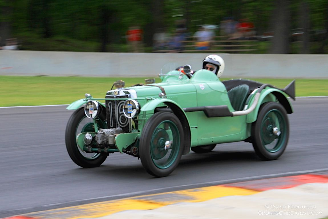 Just watching Curtis Liposcak drifting through turn 6 in his 1931 MG J2 C-type is worth the price of admission.