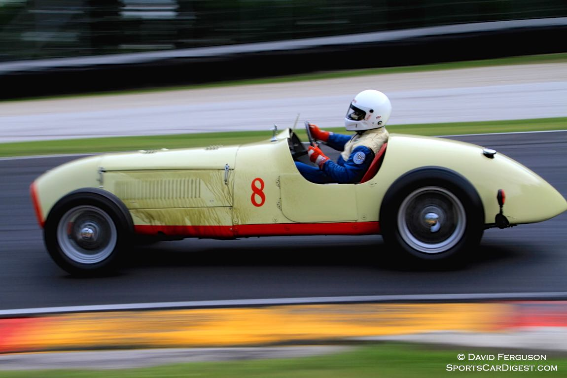Marvin Primack's 1949 Lester-MG Special did not come around next lap. I wonder why.