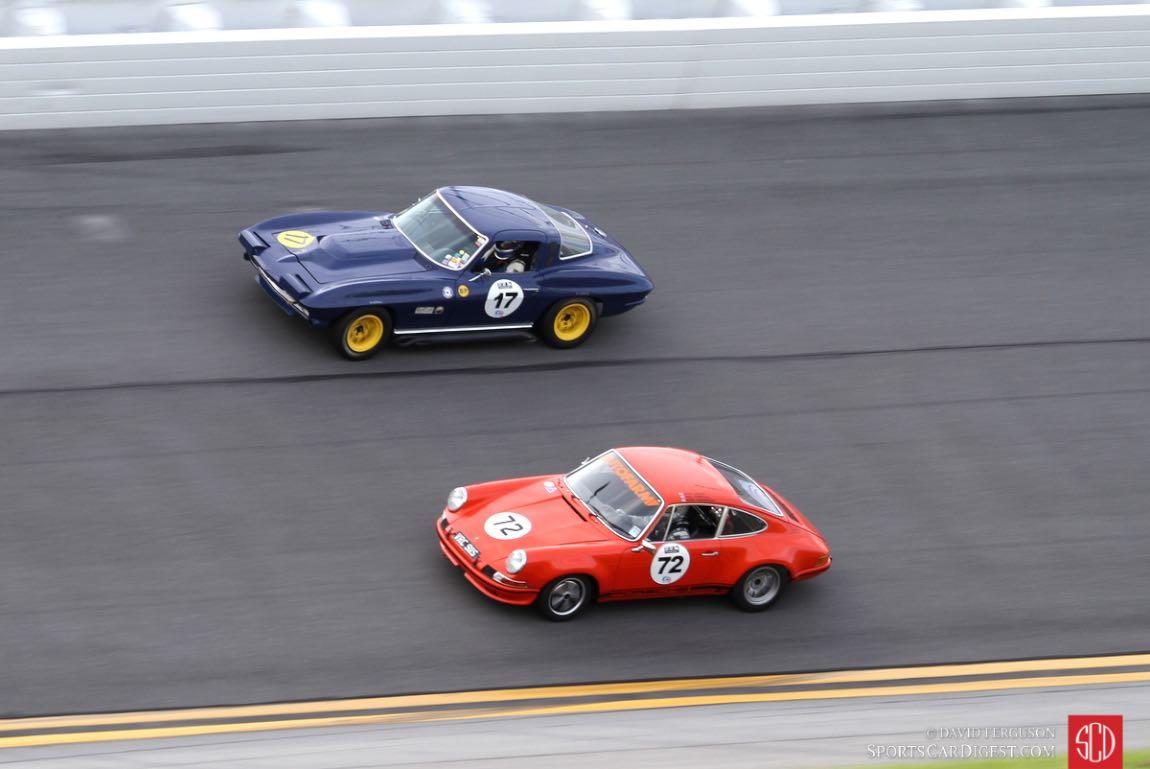 Bruce/Spencer Tenery, 64 Corvette and Josh Sadler/Paul Howells/Mark Henderson, 70 Porsche 911