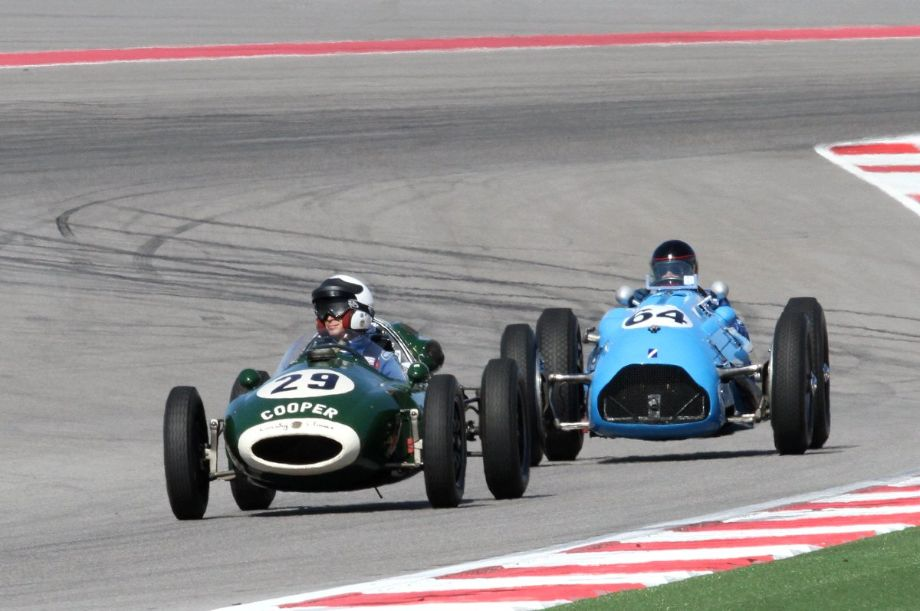 The beginning of the rear engine movement and the end of the front engine Grand Prix racers meet at COTA.