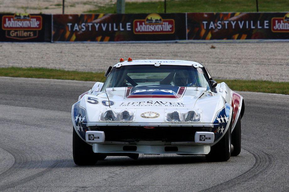 John Goodman in an ex Greenwood Corvette.