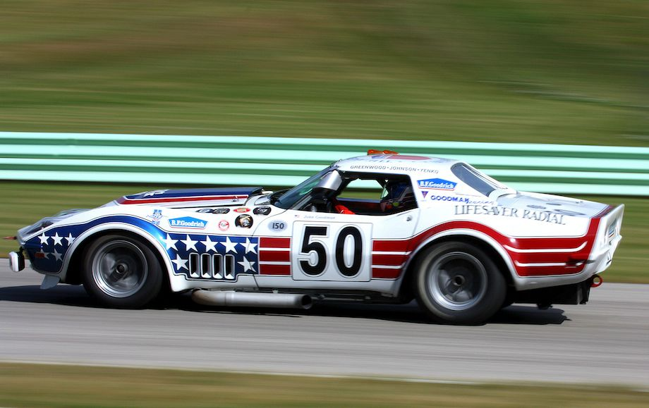 John Goodman in the iconic John Greenwood 1971 Corvette