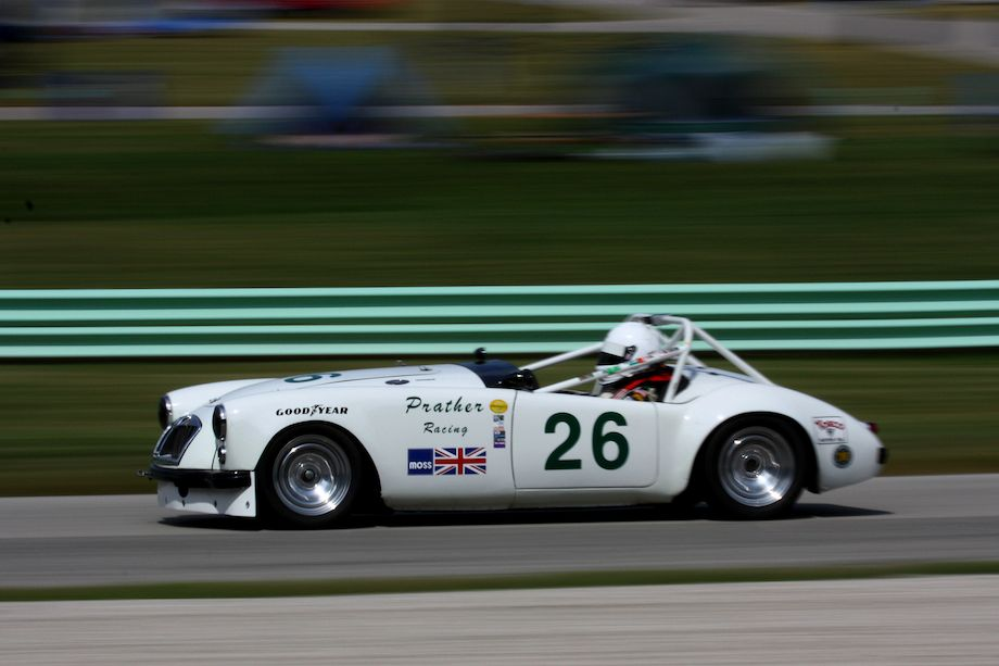 Kent Prather in his very quick 1962 MGA