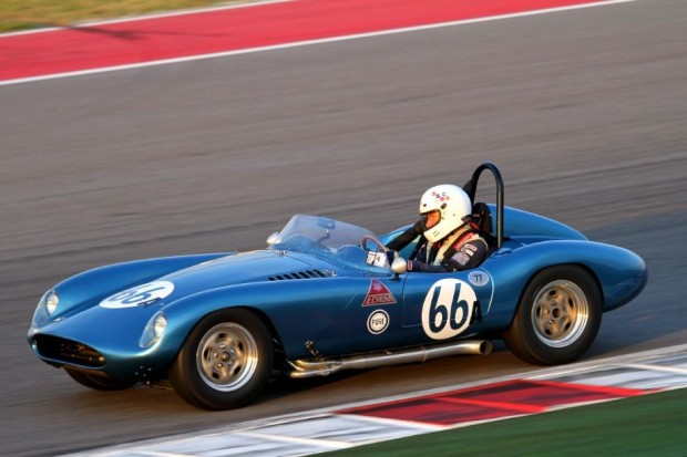 Stephens Steers in his very pretty and very fast 1958 Echidna Roadster.