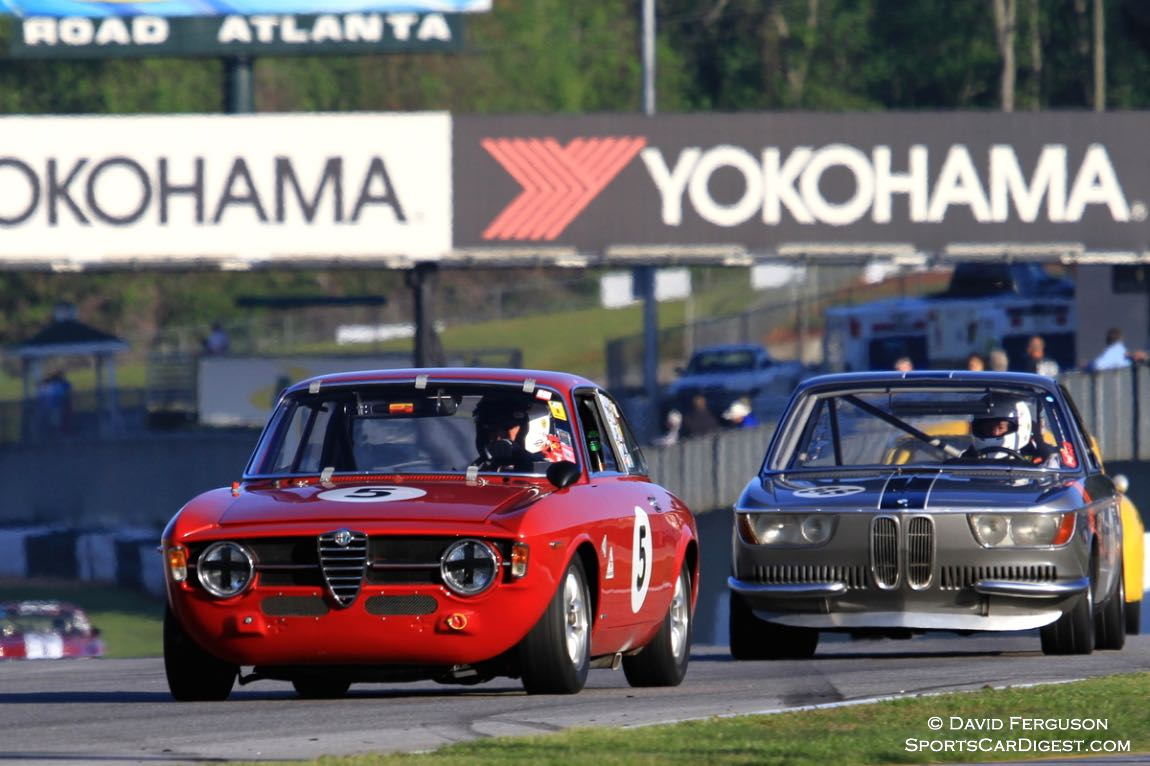 Dean DeSantis/Ken Moore, 67 Alfa Romeo GT jr and Damon DeSantis, 66 BMW 2002CS