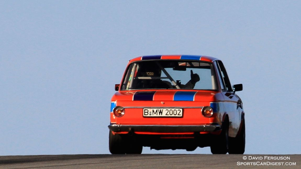 Thumbs up from the BMW 2002 driver