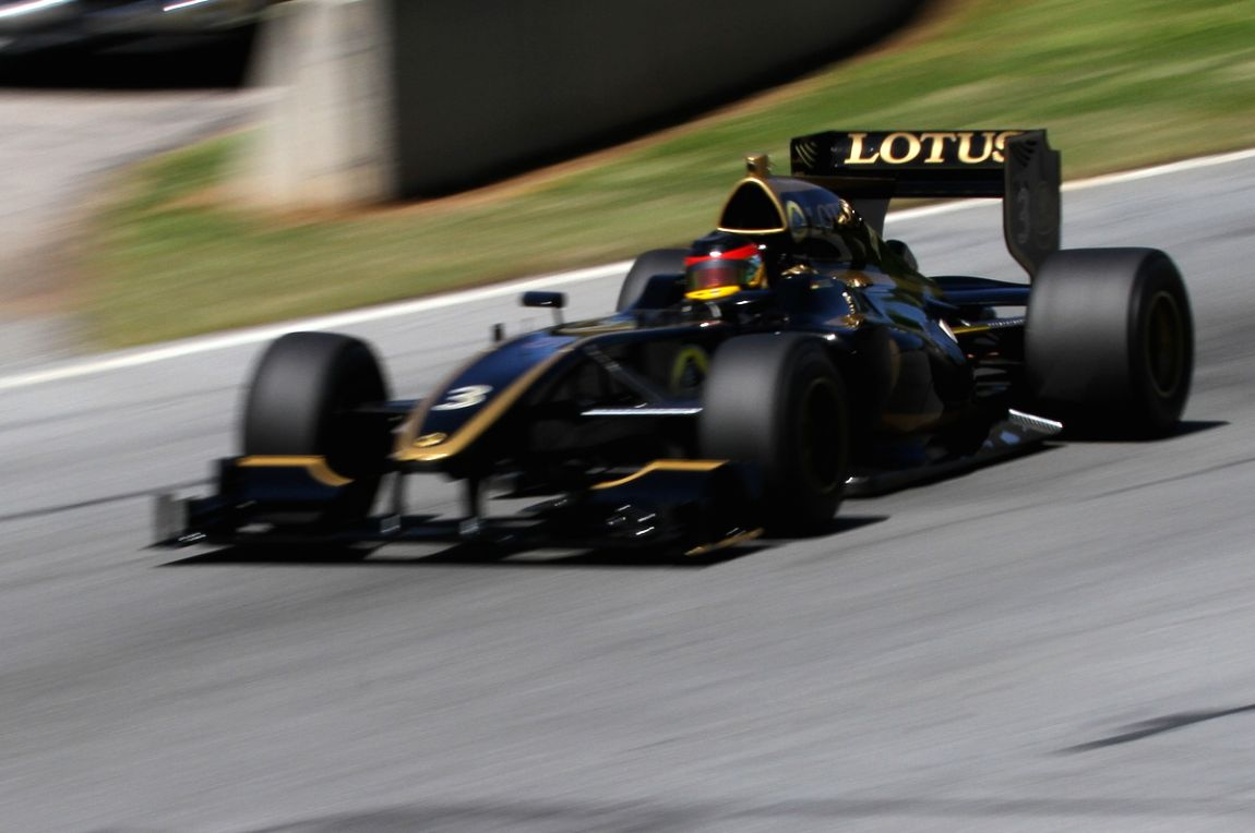 Christian Zugel going fast in his 2013 Lotus T125 Exos.