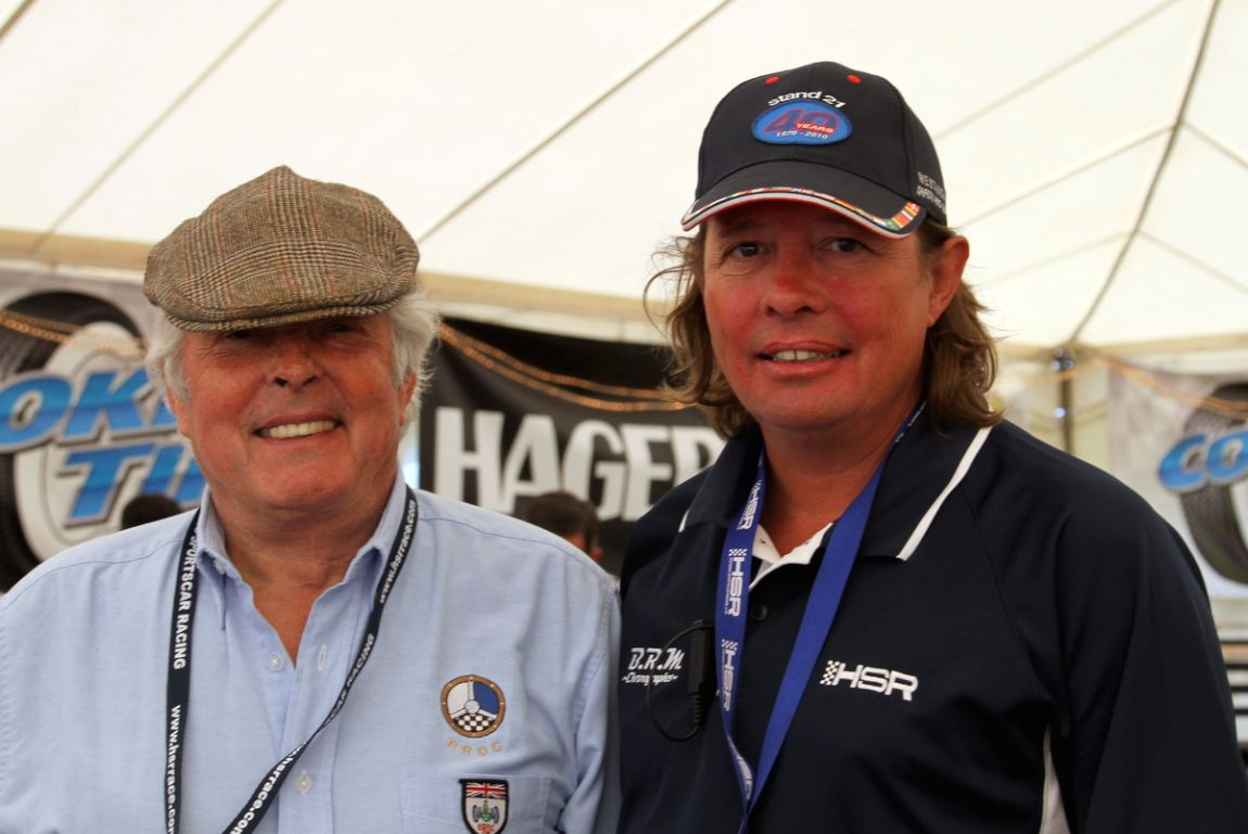 Honorary Grand marshal with HSR's General Manager. Also known as father and son.