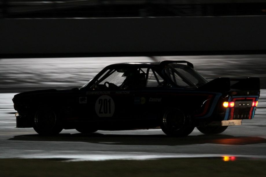 BMW CSL onto the tri-oval.