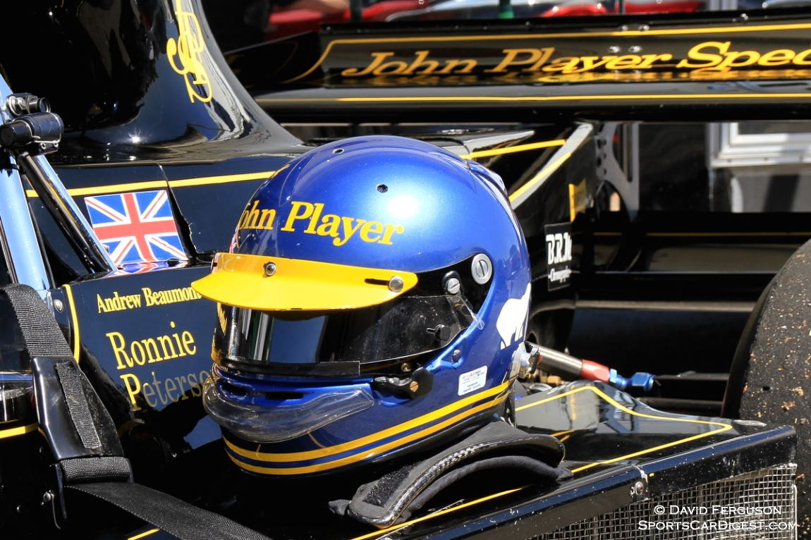 Andrew Beaumont's tribute to Ronnie Peterson helmet.