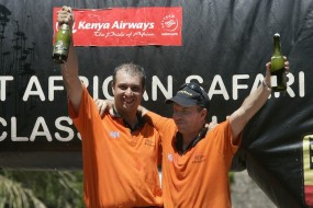 Overall winners Ian Duncan (left) and Amaar Slatch