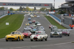 Donington Historic Festival 2012 - Start of the Pre-63 GT race