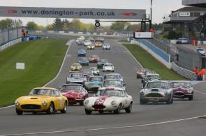Donington Historic Festival 2012 - Start of the Pre-63 GT race