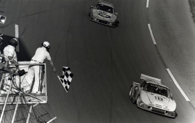 JLP Porsche 935 with Rolf Stommelen and father and son John Paul, Sr. and John Paul, Jr.