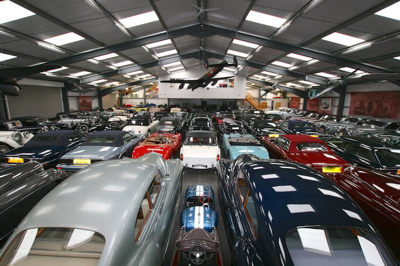 Jaguar buys british classic car collection for Classic underground house