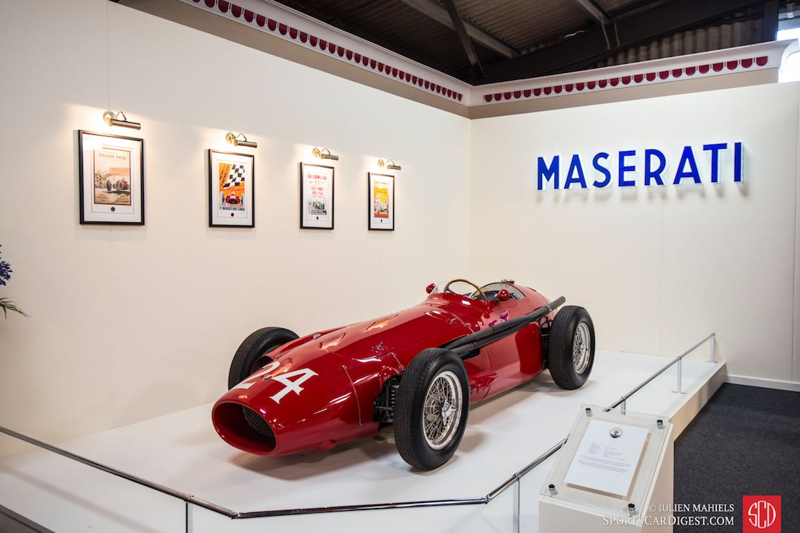 Maserati 250F stand at Earls Court