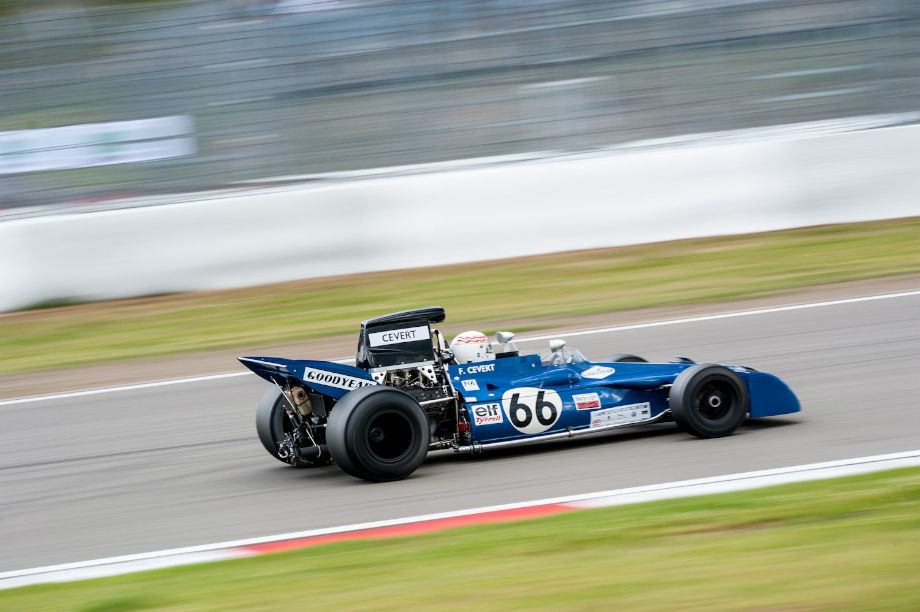 1971 Tyrrell 002 looked at home on the Nurburgring during the Oldtimer Grand Prix (photo: Julien Mahiels)