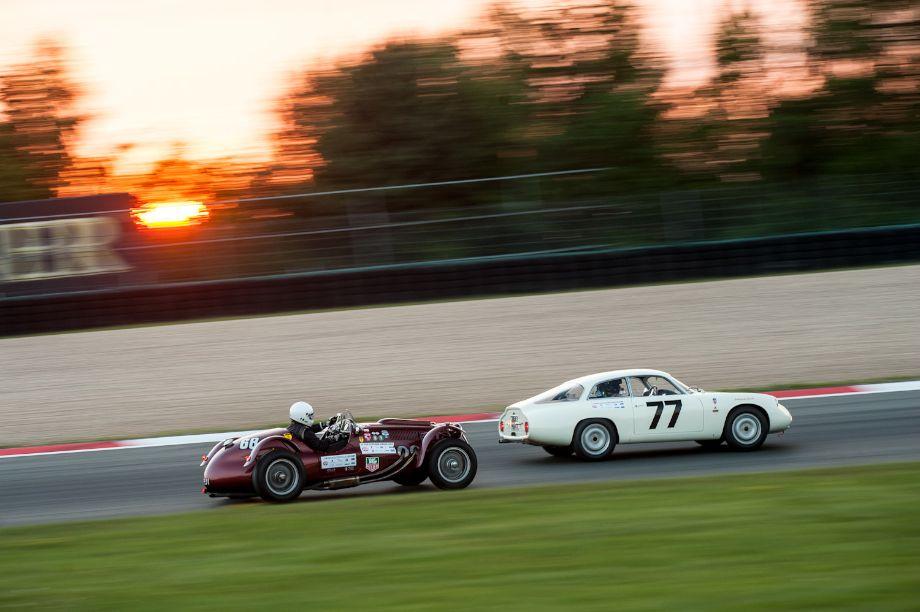 1952 Frazer Nash Le Mans MK II chases the 1961 Alfa Romeo Giulietta Sprint Zagato
