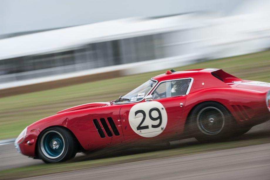 Ferrari 250 GTO/64 digs in at the Goodwood Revival (photo: Julien Mahiels)