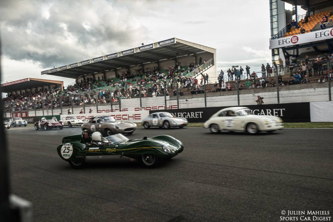 1958 Lotus Eleven Le Mans joins the Plateau Three race for 1957 to 1961 entrants