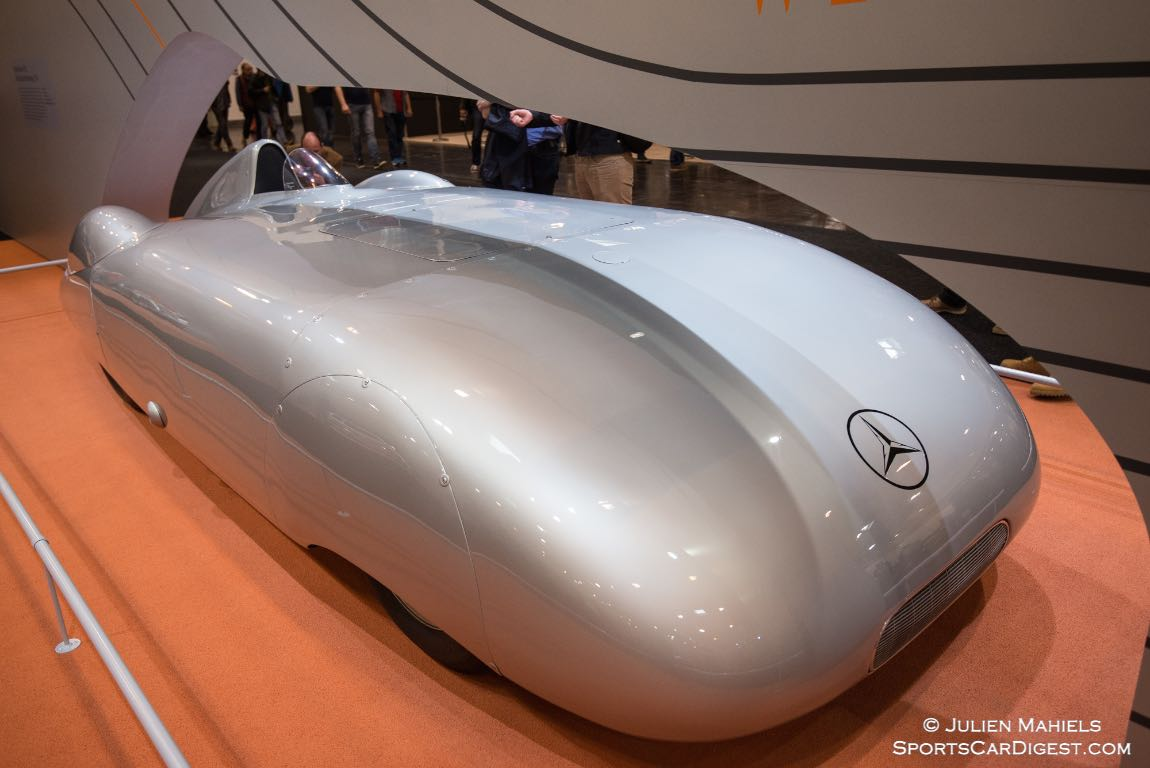 1936 Mercedes-Benz W 25 Streamliner set multiple world speed records at the hands of Rudolph Caracciola
