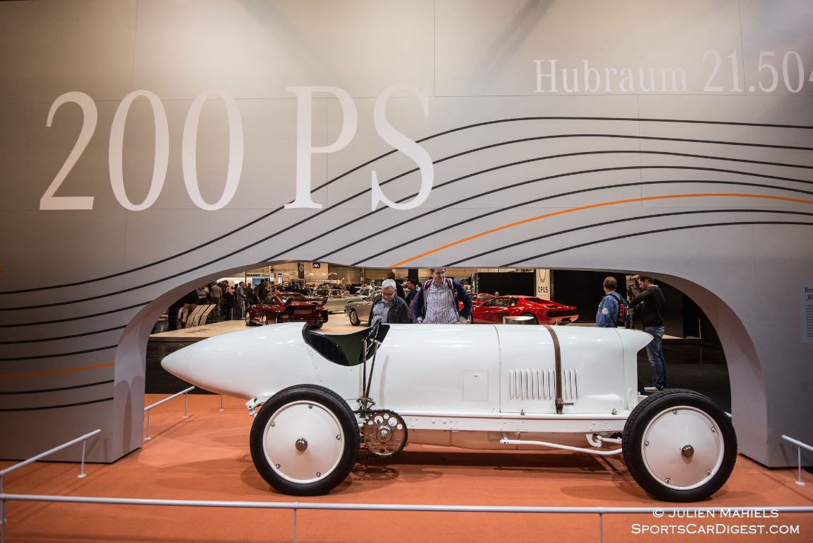 "1909 Benz 200 HP - In 1911, Bob Burman clocked up 228.1 km/h on the sand track at Daytona beach. This made the ""Blitzen-Benz"", as the model was known in the USA, the fastest vehicle in the world – even faster than any aeroplane or train. The record was to stand for eight years."