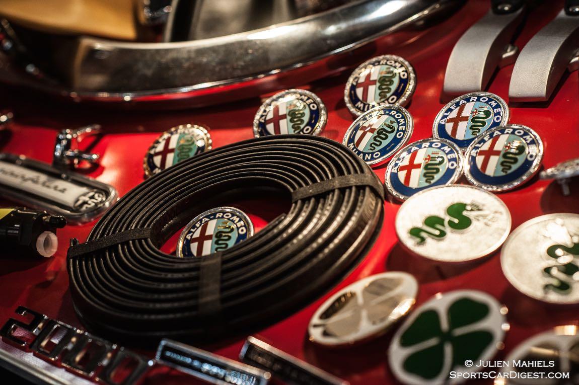 Alfa Romeo badges at Techno Classica Essen 2015