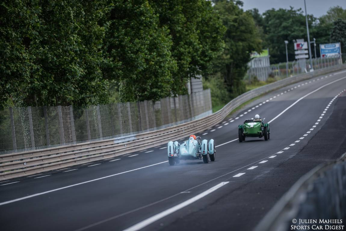 1939 Talbot-Lago Ex-Monoplace Decalee chases the 1931 Talbot 105 'GO 52'
