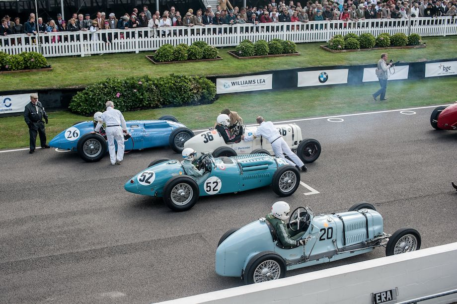 Goodwood Trophy race for Grand Prix and Voiturette cars raced from 1930-1950