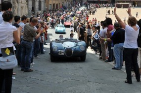 Jaguar C-Type at Mille Miglia