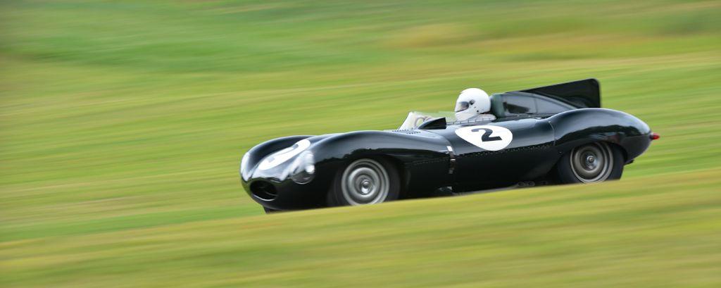 1955 Jaguar D-Type at Lime Rock Historic Festival
