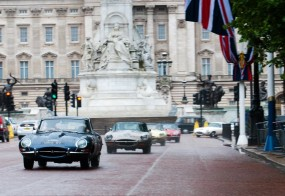 Jaguar E-Type Parade in London