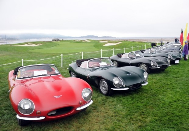 Jaguar XK SS Group at Pebble Beach Concours d'Elegance 2010