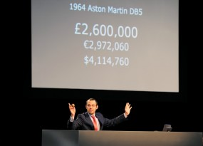 James Bond Aston Martin DB5 Hammered Sold by Max Girardo of RM Auctions