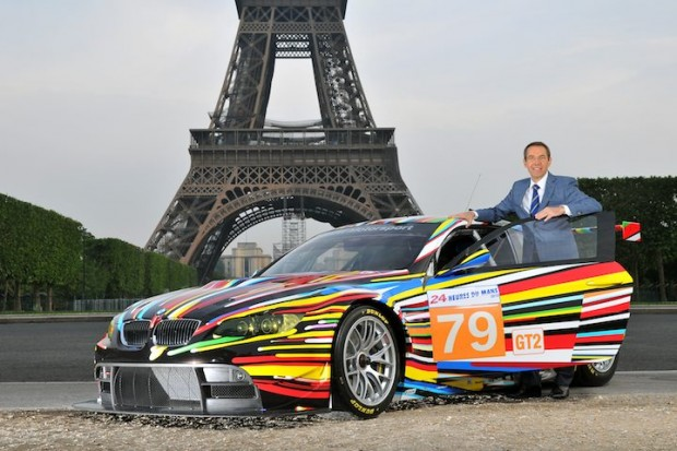 Jeff Koons with his BMW Art Car