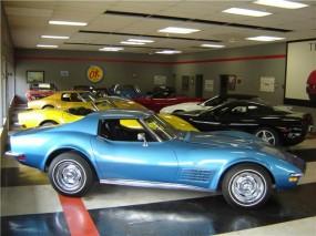 Showroom at Jim Glass Corvette Specialists