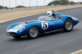 John Morton in the 1958 Scarab.