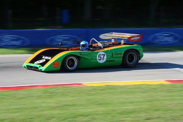 Tony Garmey drove the 1970 McLaren M8C at Kohler International Challenge