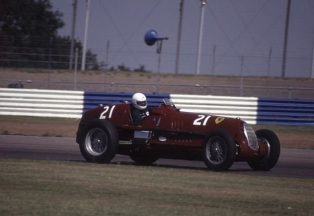 Matt Grist won the race for pre-war cars at the Le Mans Classic in 2002. Photo - P.Collins