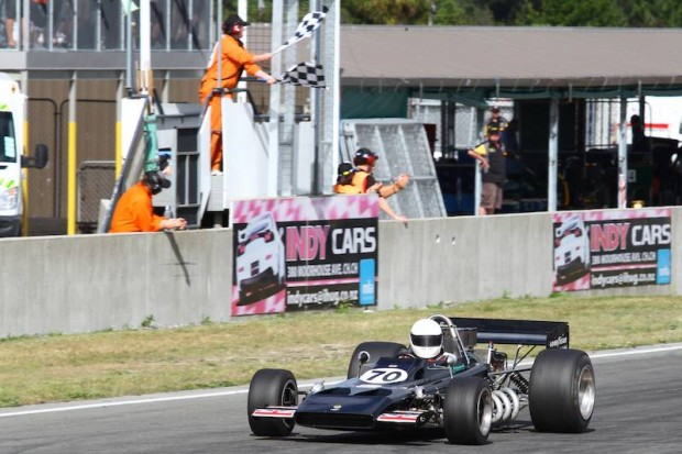 Class A winner Dave Arrowsmith in Ford-powered Lotus 70