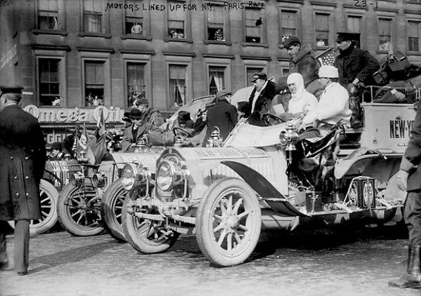 1908 New York to Paris race start