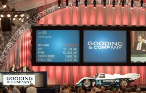 1984 Porsche 962 on auction block