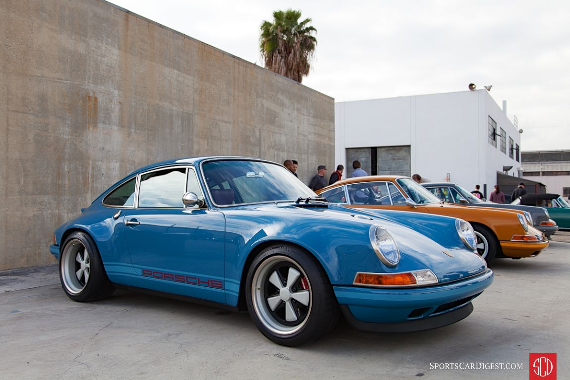 Singer Vehicle Design was on hand with some of their modified 911s (Photo: Victor Varela)